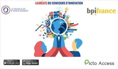 PICTO ACCESS Lauréat du concours d'innovation BPI France dans la catégorie «Société Inclusive et Solidaire».